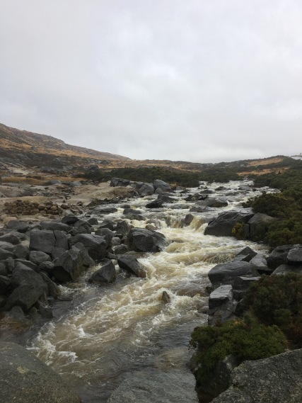 Stream running down Wicklow Mountains